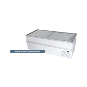 Sliding Glass Top Chest Freezer - VT200